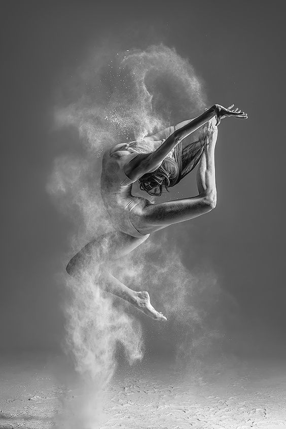 female dancer posing in studio
